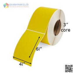Decal màu vàng 4inchx6inch,50m